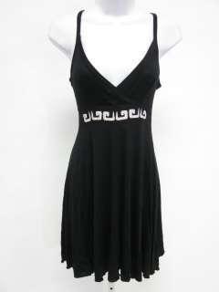 XANAB BY TAMARA ZOVICH Black Tan Jersey Dress Sz S