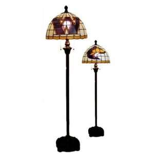 Washington Huskies Tiffany/Stained Glass Floor Lamp