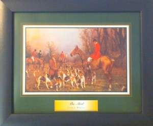 Framed Fox Hunting Beagle Horse Poster Prints