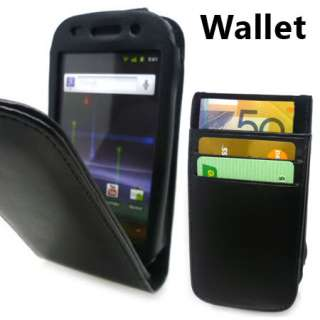 Premium Black Wallet Style Leather Case Cover Samsung Google Nexus S