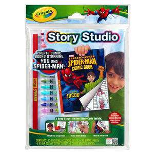 Story Studio Spider Man Create Comic Books Starring You And Spider man