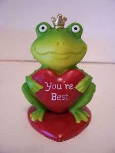 VALENTINE DAY FROG PRINCE FIGURINE DECORATION SPRING