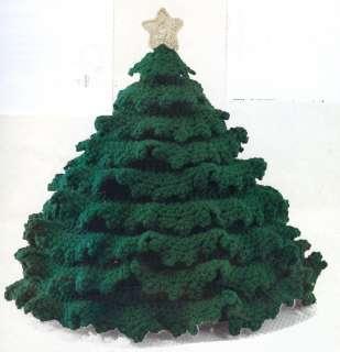 CHRISTMAS TREE CENTERPIECE 13 TALL*CROCHET PATTERN**