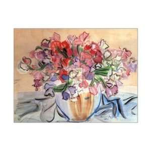 Vase De Pois De Senteur   Poster by Raoul Dufy (28 x 22