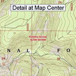 USGS Topographic Quadrangle Map   Bubbling Springs, Montana (Folded