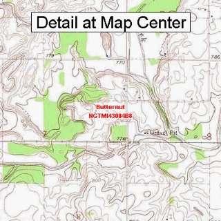 USGS Topographic Quadrangle Map   Butternut, Michigan