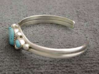 Sterling Silver Turquoise Bracelet Native American Jewelry