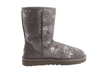NIB UGG CLASSIC SHORT KIMONO WOMENS BOOTS SHOES GREY 6 7 8 9