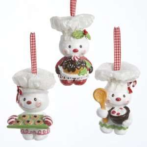 Pack of 6 Gingerbread Kisses Snowman Chef Christmas