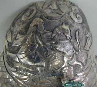 Antique Silver Centerpiece Bowl, Persia Iran, Ca 1900