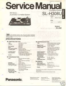 Original Service Manual Panasonic SL H308U Turntable