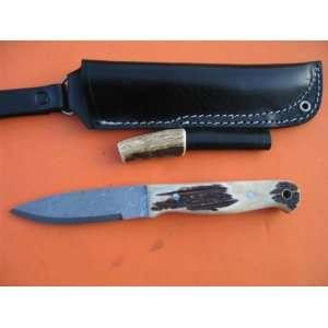 Handled Damascus Bushcraft Knife:  Sports & Outdoors