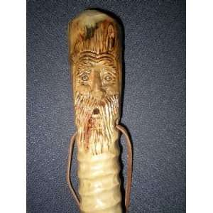 Spirit Face Hand Carved Walking and Hiking Stick  Sports