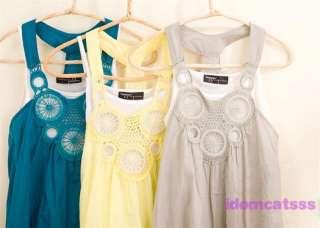 Grey/Blue/Yellow Retro NEW Tank Mini Dress US sz S
