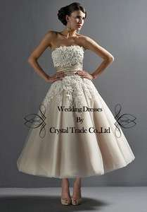 Bridesmaid Dress Evening Formal Prom Party Dress Custom Size Applique