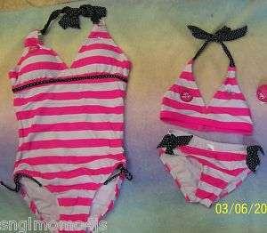 JUSTICE girls bathing suit SWIMSUIT NWT bikini 1 piece