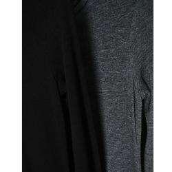 Tabeez Womens Black Knit Turtleneck Maxi Dress