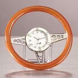 Wooden Racing Car Steering Wheel Clock CT 33105