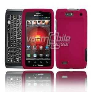 VMG Motorola Droid 4 4th Gen Hard Case Cover 2 Item Combo   PINK Hard