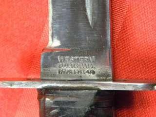 US WW2 Western Fighting Knife dagger sword scabbard