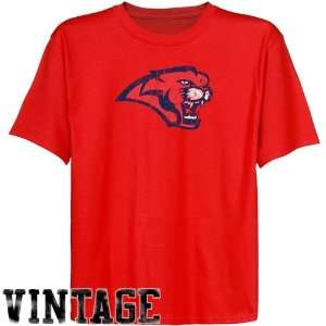 NCAA Houston Cougars Youth Red Distressed Logo Vintage T