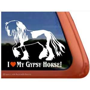 I Love My Gypsy Horse Trailer Vinyl Window Decal Sticker