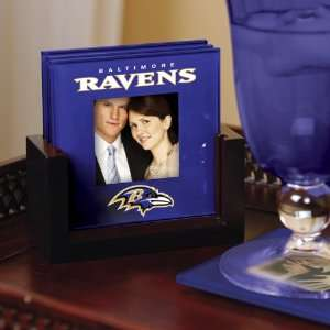 Baltimore Ravens Art Glass Coaster Set Ravens  Kitchen