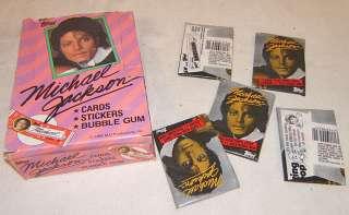 32 Old Michael Jackson bubble gum cards original box Topps 1984 NR lot