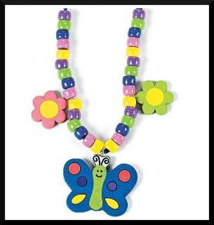 Butterfly Flower Charm Necklace Craft Kit Kids ABCraft