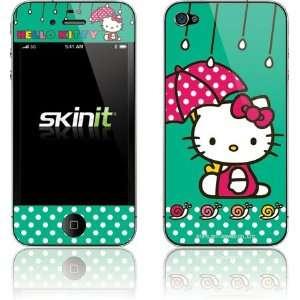 Hello Kitty Polka Dot Umbrella skin for Apple iPhone 4