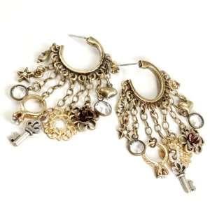 Sweet Romance Love Charms Hoop Earrings Shelley Cooper Jewelry