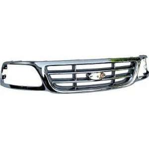 99 04 FORD F250 LIGHT DUTY PICKUP f 250 GRILLE TRUCK, ALL Chrome, w/o