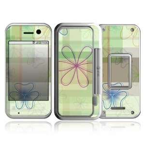 Line Flower Design Protective Skin Decal Sticker for Motorola Backflip