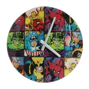 Marvel Comic Book Super Heroes Glass Wall Clock Toys