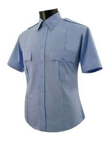 Police/security light blue polyester shirt short Sleeve
