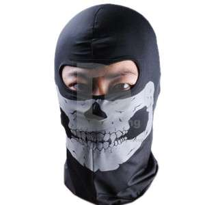 Black Balaclava Skull Riding Head Mask Motorcycle Full Face Ski