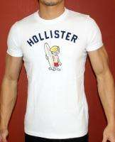 NEW HOLLISTER HCO MUSCLE SLIM FIT WHITE HCO LOGO T SHIRT MENS Sz M