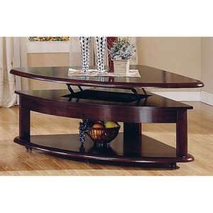 Lidya Corner Wedge Lift Top Coffee Table with Casters Furniture