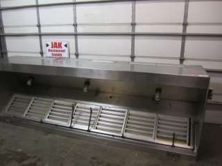 Restaurant Grease Exhaust Ventilation Hood Stainless Steel W/ Filters