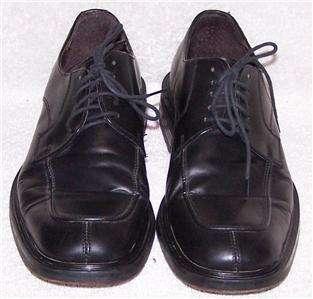 41 Skechers BLACK LEATHER oxford dress lace shoes men