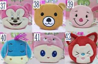 Portable Cute Cartoon Bag Change Coin Purse Case Plush Purse Handbag