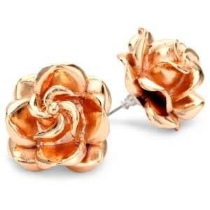 Tuleste Market Rosette 14k Rose Gold Plated Rosette Stud