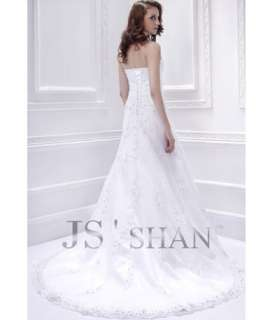 embroidery organza a line bridal gown wedding dress sku js11w28 fabric