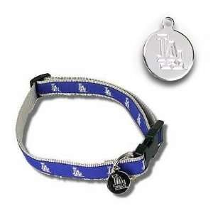 Los Angeles Dodgers Baseball Dog Puppy Pet Collar   Medium