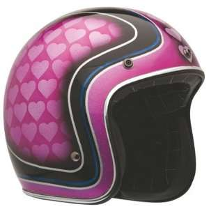 Bell Custom 500 Open Face Motorcycle Helmet Large Heart