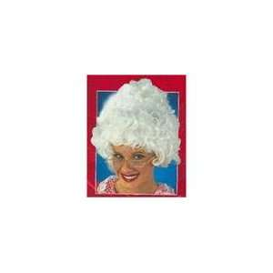 Mrs. Santa Claus Curly White Christmas Wig   One Size Fits