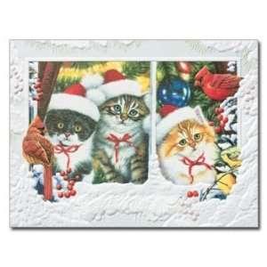 Kittens in Window Embossed Christmas Cards: Everything Else