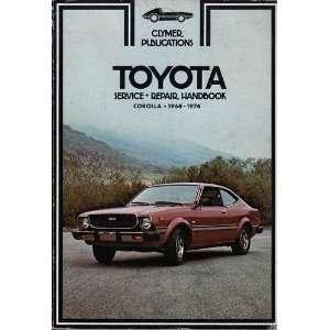 Toyota Corolla 1968 1974 service, repair handbook Books