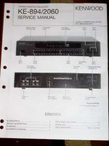 Kenwood Service Manual~KE 894/2060 Graphic Equalizer