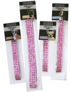 DogPINK RHINESTONE COLLAR jewelry dress up LARGE
